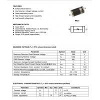 China DL4007 General Purpose Schottky Diode / Silicon Rectifier Diode Sod80 4007 1n4007 on sale