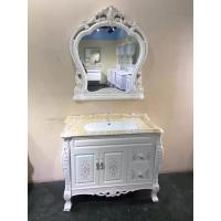 Antique Classical Soft Close Door PVC Bathroom Vanity With Ceramic Basin Manufactures