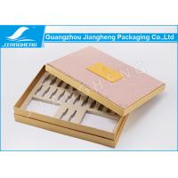Cheap PU Leather Hardcover Storage Unique Packaging Boxes For Cosmetics / Makeup Set for sale