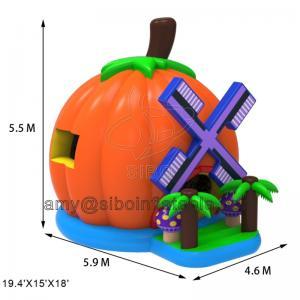 Cheap Popular Inflatable Bouncy Castle Pumpkin Bouncer House Use Pvc Tarpaulin Material for sale
