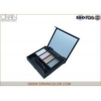Females Cosmetic Eyeshadow Glitter Palette With Brush Customized Color