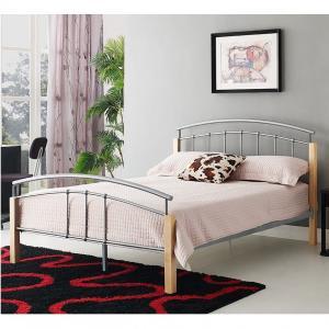 Cheap Queen Size Black Metal Platform Bed Safe Design For Bedroom Furniture for sale