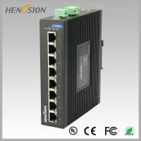 8 Port  RJ45 unmanaged full Managed Gigabit Ethernet Switch , industrial Din rail switch