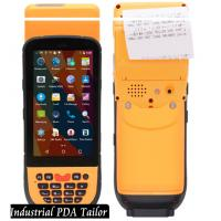Cheap Industrial Phone Pos Terminal Android Barcode Scanners And Handheld Thermal Printer In One for sale