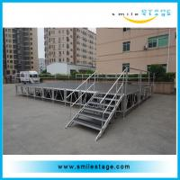 Buy cheap Aluminum height-adjustable stage foot for used plywood stage from wholesalers