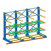Cheap Single Sided Long Span Cantilever Storage Rack With RAL Powder Coating for sale