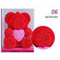 Cheap Wholesale High Quality Preserved Flower Rose Teddy Bear PE for Valentines Day Gifts for sale