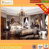 (BK0109-0008)BISINI Brand New Bedroom Furniture, Antique Royal Luxury Bedroom Furniture Set, King Size Bed Nightstand