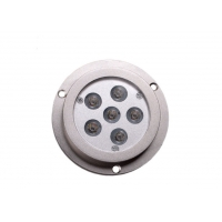Cheap Round 6-LED IP68 Boat Transom Mount Light LED Stainless Steel Marine Underwater Lights For Boat Transom Fishing for sale
