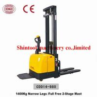 Buy cheap 1.4Ton Electric Pallet Stacker Narrow Legs With CURTIS 1230 Controller from wholesalers