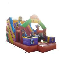 Cheap Amusement Park Inflatable Castle Slide Double Stitching Inside And Outside for sale