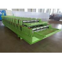 Cheap Steel Sheet Profile Tile Wall Panel Double Layer Roll Forming Machine Feeding Width 1000mm for sale