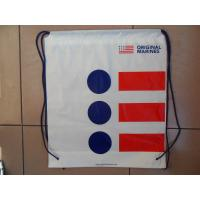 Cheap Clothing Plastic Drawstring Backpack Promotional For Shopping / Sports for sale