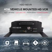 Cheap Bus HDD Mobile DVR GPS 3G WIFI 4CH PTZ Control With Smart CMS Software for sale