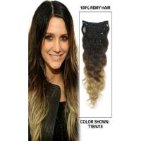 Peruvian Multi Ombre Color Hair Extensions Clips Full Ends Double Drawn