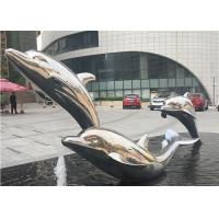 Cheap Lifelike Life Size Metal Dolphin Sculpture Stainless Steel Outdoor Sculpture For Water Fountain for sale