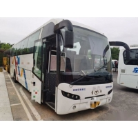 Cheap YOUNGMAN JNP6108 39 Seats WP 199kw Rear Engine Bus Used Passenger Bus Airbag Chassis Left Steering Leather Seats for sale