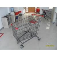 Buy cheap Steel Supermarket Shopping Cart With Zinc Plated  Clear Powder PPG Coating from wholesalers