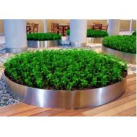 Cheap Mirror Polished Round Planter Boxes Stainless Steel OEM / ODM Available for sale