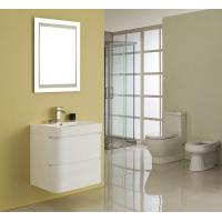 Single Ceramic Basin Rectangle Sink Vanity Hanged White Flush Color With Mirror Manufactures
