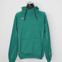 Cheap Green Hooded Sweatshirt Jacket 65% Polyester 35% Cotton Brand Logo On The Left Chest for sale