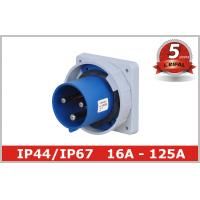 Cheap Waterproof 220V 3 Pin And Sleeve Receptacle with Flush Mounted for sale