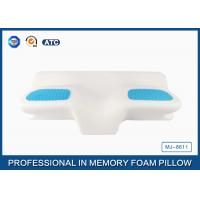 Cheap Unique Gel Memory Foam Wedge Pillow , 25.6X14.17X5.51 Inch Cooling Gel Bed Pillow for sale