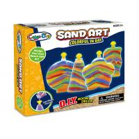 Cheap Colorful Glitter Sand Arts And Crafts Toys For Kids Age 5 W / 4 Bottles for sale