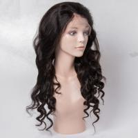 Cheap Virgin Human Hair Lace Front Wigs No Shedding For Black Woman , Medium Brown Color for sale