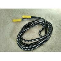 Cheap Handmade Shiny Silicone Ending Rubber Zipper Puller With 3mm Polyester String for sale