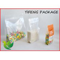 Cheap Quad Seal Flat Bottom Pouch With Pocket Zipper For Seed Corn Packaging for sale