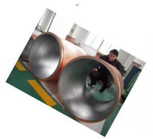 Cheap Quadruplicate Taper Copper Mould Tube For CCM , Large Diameter Continuous Casting Mould for sale
