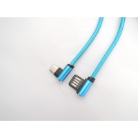 Cheap Double Sided Plug Right Angle 480Mpbs USB Data Transfer Cable for sale