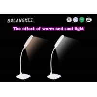 Cheap Flexible goose arm rechargeable LED table lamp with two color temperature for sale