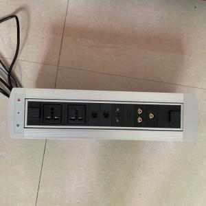 Buy cheap desktop socket flip up power outlet electrical plug socket for conference room from wholesalers