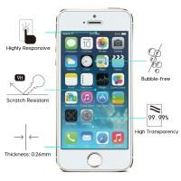 Cheap 9H Hardness IPhone Tempered Glass Screen Protector Anti Scratch HD Retina Clarity for sale