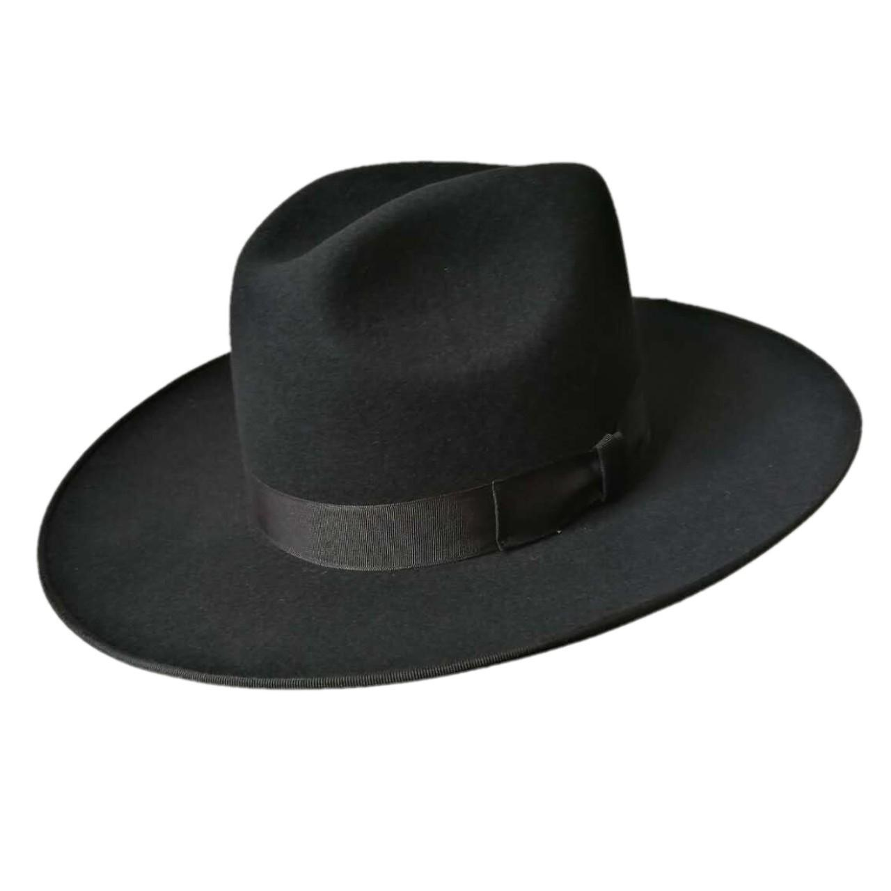 Cheap Men's felt hats Rabbit fur felt Jewish hat, jewish hat borsalino, Israel, Top Hat for sale