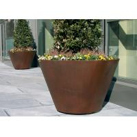Cheap Large Traditional Corten Steel Round Planter Various Sizes / Colors Available for sale
