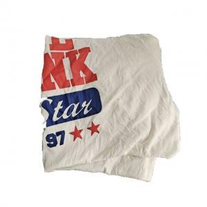 Cheap No Metal No Dirty White 85% Cotton T Shirt Rags for sale