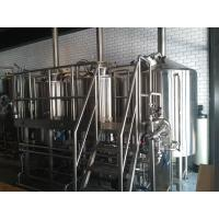 Three Vessel Brewery Brewing Equipment , Steam Heated Brewery Equipment