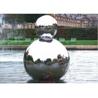 Cheap Polished Stainless Steel Outdoor Sculpture Hollow Sphere Shaped For Pool Decoration for sale