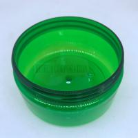 Quality Empty Plastic PET Jar With Green Body / Cream Jars Cosmetic Packaging wholesale