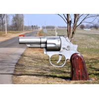 Cheap Special Gun Design Contemporary Metal Garden Sculptures Excellent Corrosion Resistance for sale