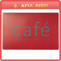 Cheap Square Red Fashion Cafe coffee Shop Plastic Place Mat PVC Coaster for sale
