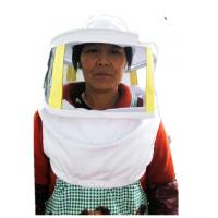 Cheap Beekeeping Protective Clothing White Square Bee Veil Breathable With Round Type Bee Hat   For Beekeepers for sale