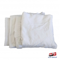 Cheap 50-100Cm 20kg/Bale White Cotton Wiping Rags for sale