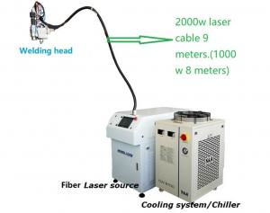 Cheap 380VAC CNC 6 Axis Robot Laser Welding Machine With Herolaser Head for sale