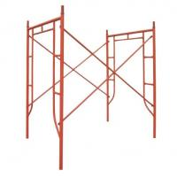 Cheap Silver / Red Ladder Scaffolding System , Fabricated Tubular Frame Scaffold for sale