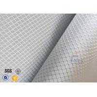 220g 0.2mm Checked Aluminized Fiberglass Cloth For Decoration Manufactures