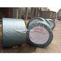 Cheap Rubber Ribbed Nylon Conveyor Belt High Strength For Stone , Flame Resistant for sale